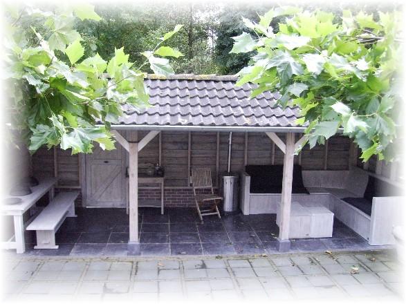 Waaijenberg voorthuizen verbouwingen exclusieve veranda s steigerhout tuinmeubelen - Overdekt terras tegel ...